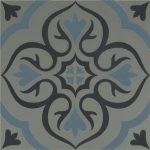 OS Knightshayes Dark Blue & Light Blue on Grey