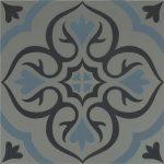 OS Knightshayes Dark Blue & Light Blue on Grey